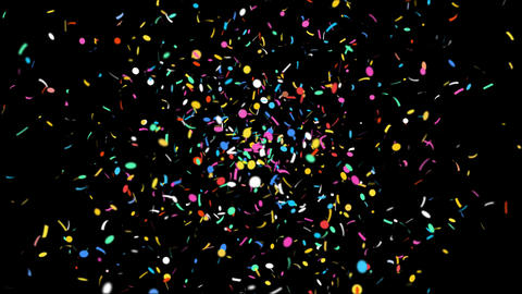 Celebration Confetti with Alpha Matte Channel Animation