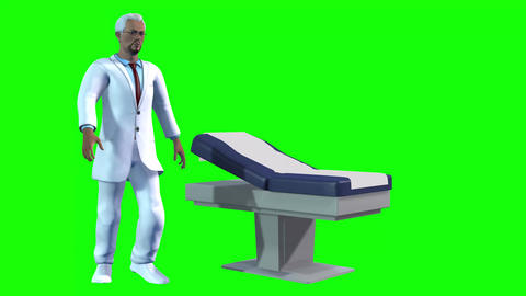 741 4k 3d animated two Avatars doctors who run to patience and explain something Animation