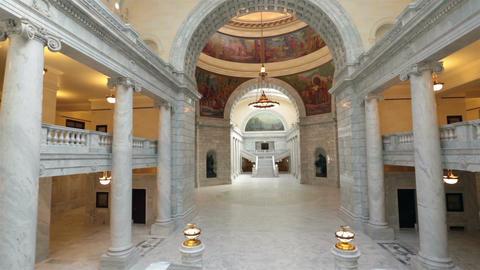 Utah State Capital building inside pan HD 4789 Footage