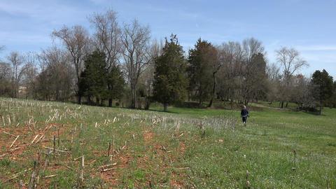 Virginia Ellwood Manor plantation Stonewall Jackson woman walk 4K Footage