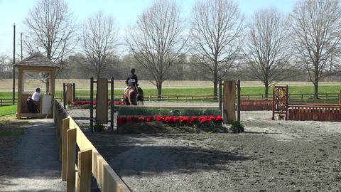 Virginia young girl horse jumping 4K Footage