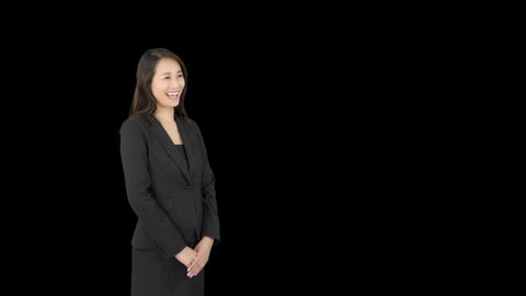 Japanese business woman smilling 3 Live Action