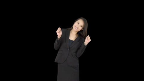 Japanese business woman happy 3 Footage