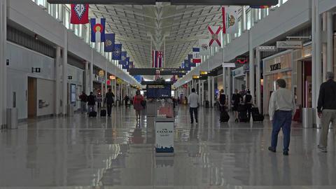 Washington DC Dulles International Airport gate shops 4K 016 Footage
