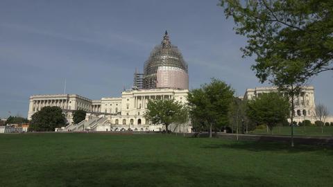 Washington DC Capitol Building front lawn 4K 049 Footage