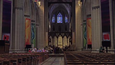 Washington DC National Cathedral main chapel altar 4K 024 Footage