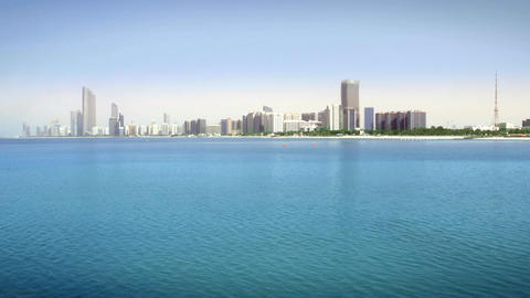 Cityscape of Abu Dhabi Footage