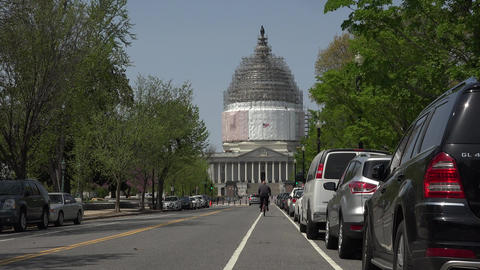 Washington DC Nations Capitol Building traffic taxi fast 4K 022 Footage