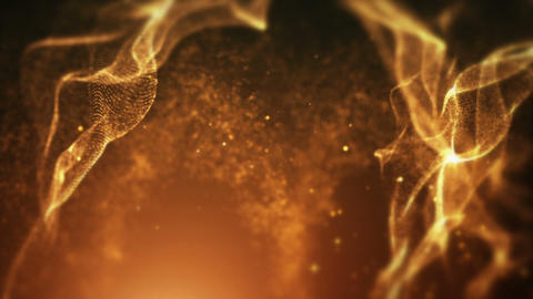 Yellow Particles Background Animation