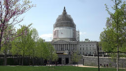 Washington DC US Capitol building grass park to entrance 4K 032 Footage