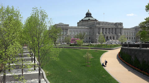 Washington DC US Library Of Congress from Capitol 4K Stock Video Footage