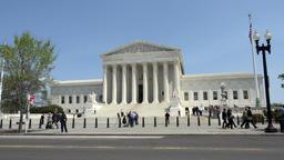 Washington DC US Supreme Court Building traffic 4K 033 Footage