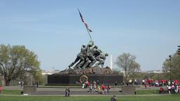 Washington DC United States Marine Corps War Memorial fast 4K 030 Footage