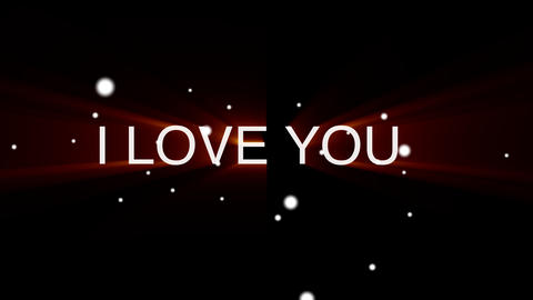 I love you text After Effects Template