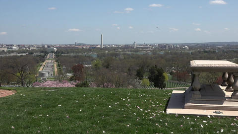 Washington DC from Arlington National Cemetery HD Footage