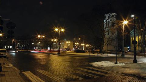 City night traffic time lapse Footage