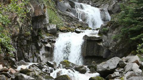 Waterfall Skagway Alaska down mountain P HD 0109 Footage