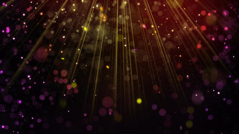 Festive glitter particles falling in light rays loop Animation