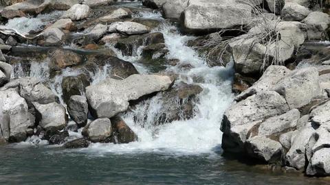 Waterfall thru boulders P HD 2274 Footage