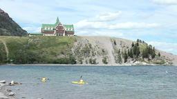 Waterton Lake kayak Price Wales Hotel P HD 0448 Footage