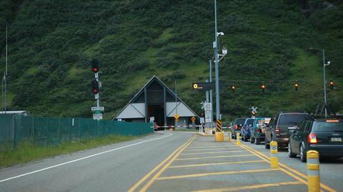 Whittier Alaska tunnell evening P HD 8108 Footage