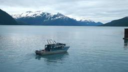 Whittier Alaska fishing boat evening P HD 8101 Footage