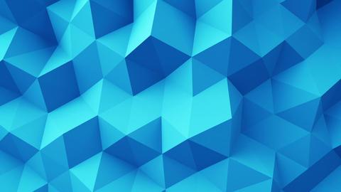 Blue polygonal geometric surface seamless loop Animation