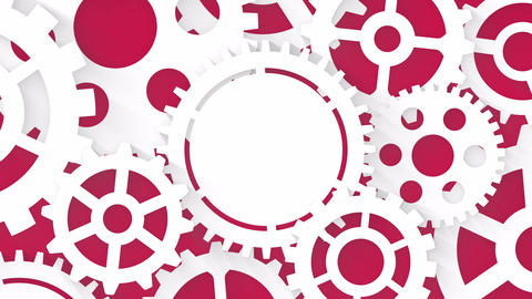 industrial motion background business concept with gear wheels Animation
