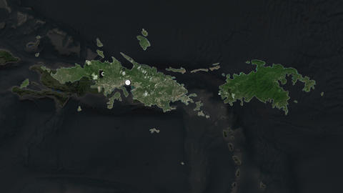 Us Virgin Islands St Thomas St John and capital circled and zoomed. Satellite Animation