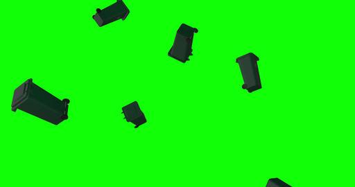 plastic recycle trash outdoor garbage outdoor bin outdoor…, Stock Animation