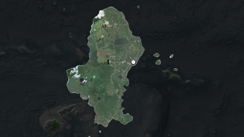 Wallis and capital circled and zoomed. Satellite Animation