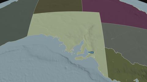 South Australia - state of Australia. Administrative Animation