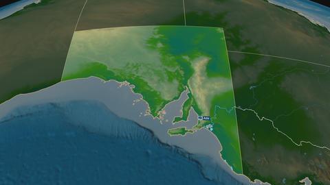 South Australia - state of Australia. Physical Animation