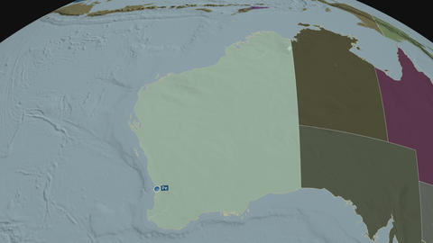 Western Australia - state of Australia. Administrative Animation