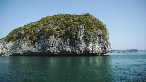 Panoramic View Of Halong Bay Vietnam Acción en vivo