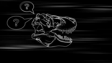 T-Rex Skull Loop 03 Animation
