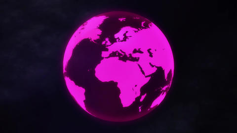 Transparent Pink Earth Videos animados