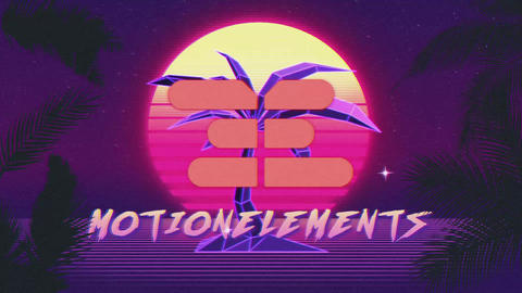 80's Retro Wave Intro After Effects Template