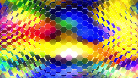 Dark Colors Winking Hexagons 2 CG動画