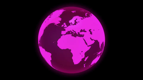 Transparent Pink Earth black back Videos animados