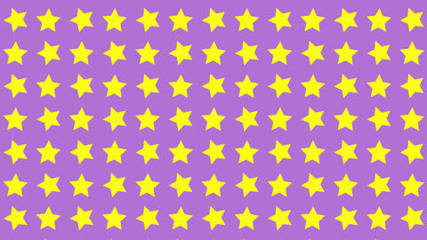 Pattern background star shape Animation