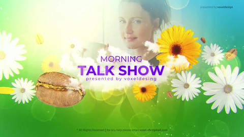 Morning Talk Show Opener After Effects Template