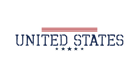 Animated closeup text United States on holiday background, Nation Day of USA Animation