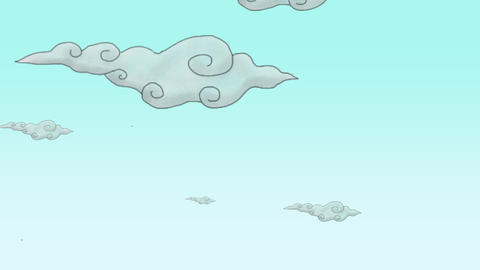 Cartoon animation background with motion clouds, abstract backdrop Animation