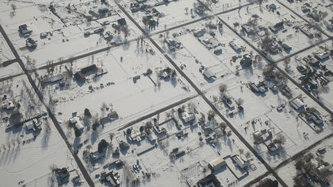 Winter small town aerial shot P HD 6360