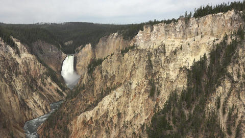 Yellowstone Grand Canyon River Lower Falls 4K Footage