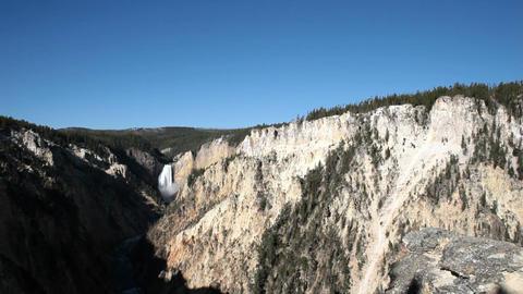 Yellowstone Lower falls distance P HD 2605 Footage