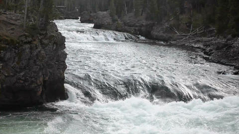 Yellowstone River rapid falls P 2394 Footage