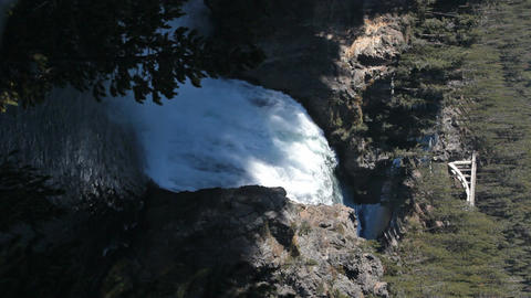 Yellowstone Upper Falls evening vertical P HD 2557 Footage