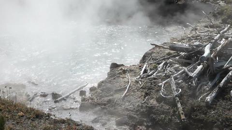 Yellowstone hot pot boiling P HD 2626 Footage